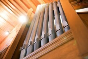 Towson Presbyterian Church's organ pipes.